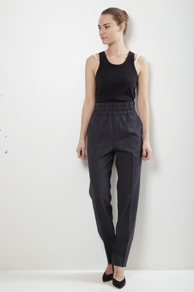 Helmut Lang - Helmut Lang pleated pull on tapered pant