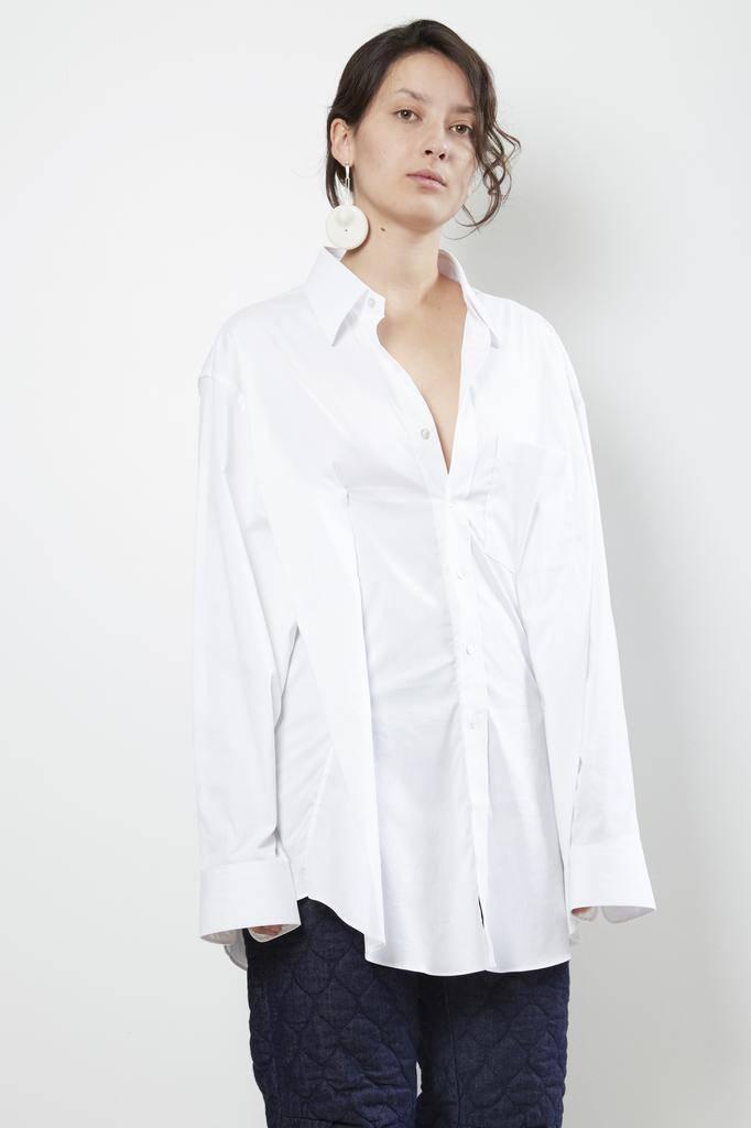 Vetements secretary decollage shirt