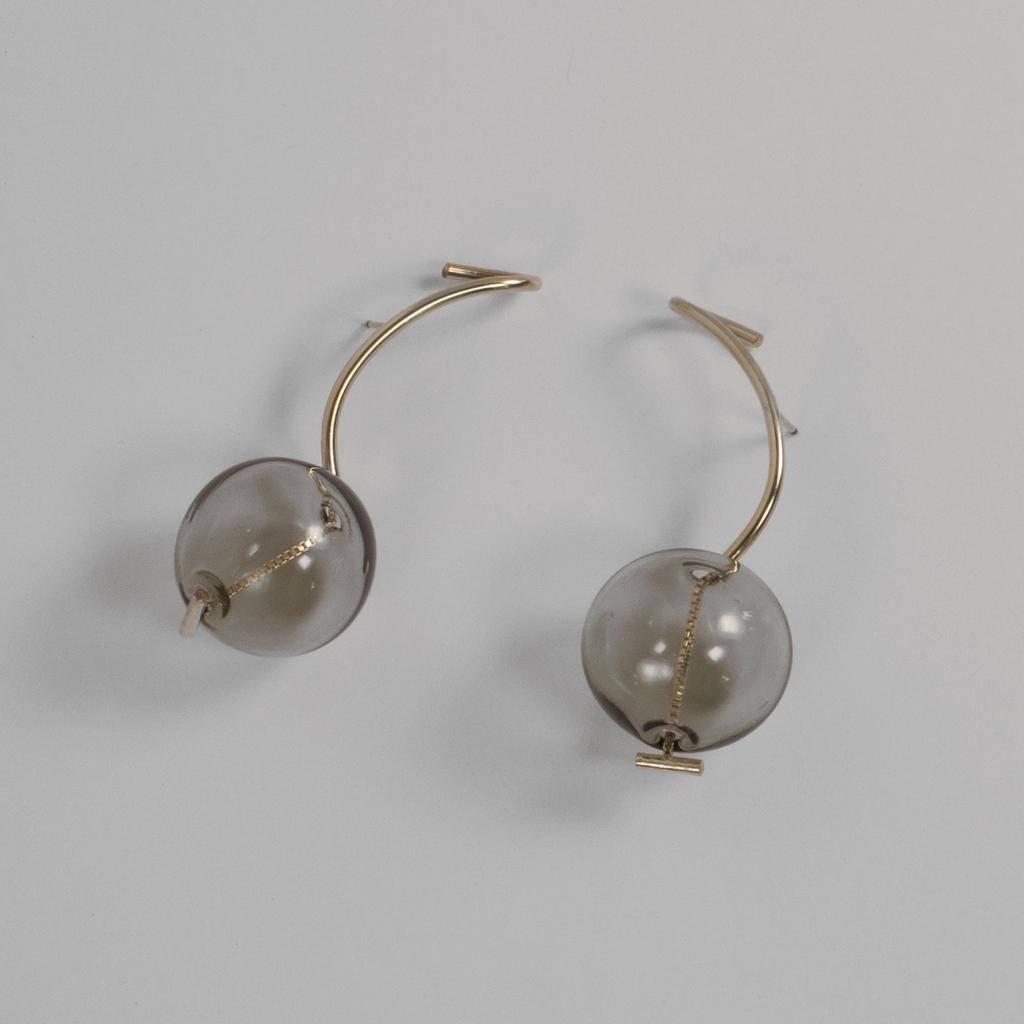 Annika Inez GF-Smoke Drop Earrings