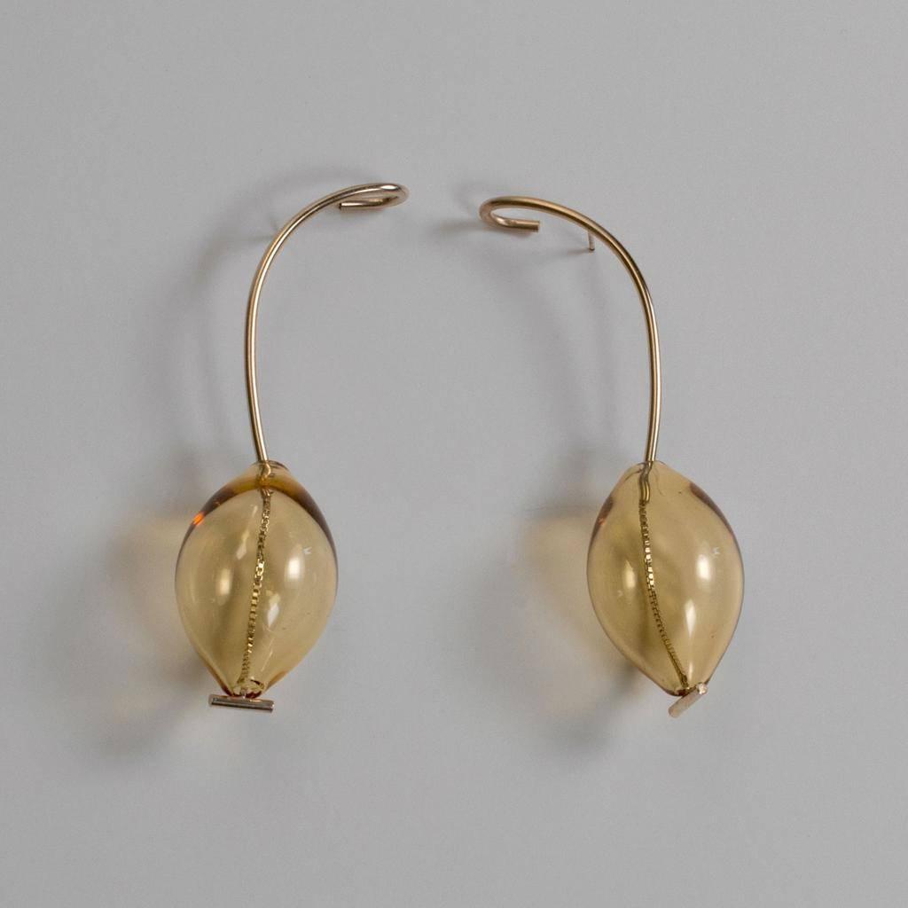 Annika Inez Amber Lantern Earrings