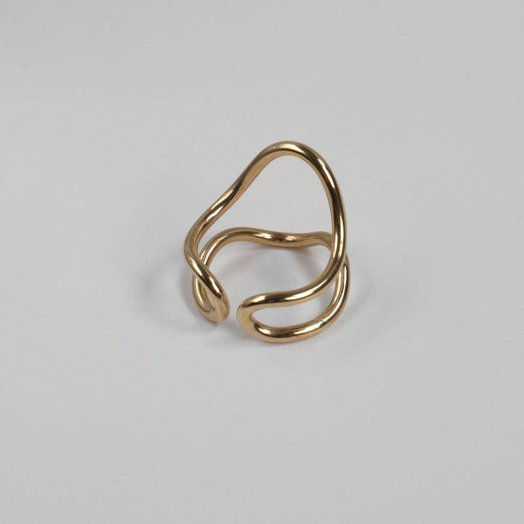 Annika Inez GF-Round Wire Dipped Ring. Slightly adjustable