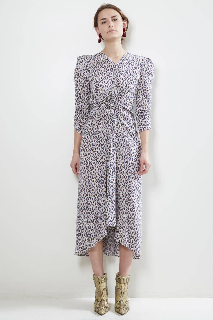 Isabel Marant ALBI PRINTED SILK DRESS