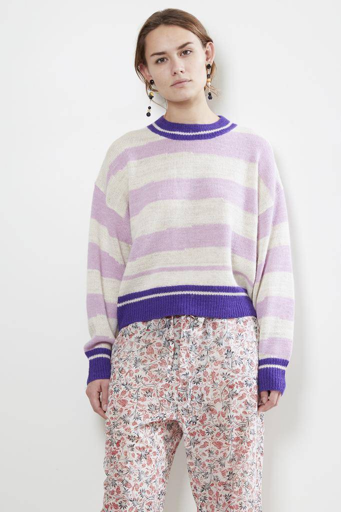 Etoile Isabel Marant GLOWY DESTRUCTURED STRIPE SWEATER