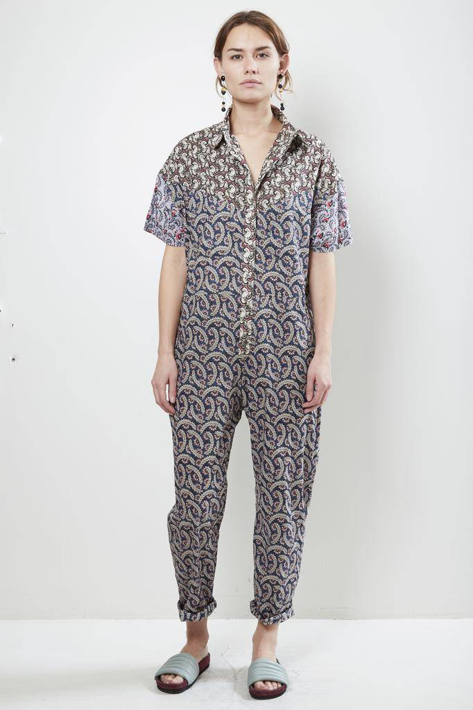 Etoile Isabel Marant LINDSIE PATCHWORK PRINT Overall