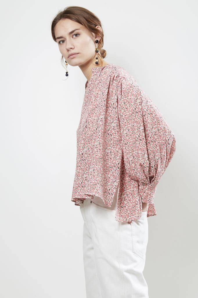 Isabel Marant AMBA PRINTED SILK TOP
