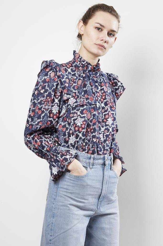 Etoile Isabel Marant TEDY PRINTED LINEN Top