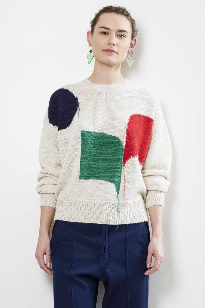 Etoile Isabel Marant GREENLEE INTARSIA GRAPHIC SWEATER