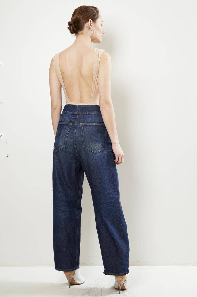 MM6 Dark Garage Wash denim