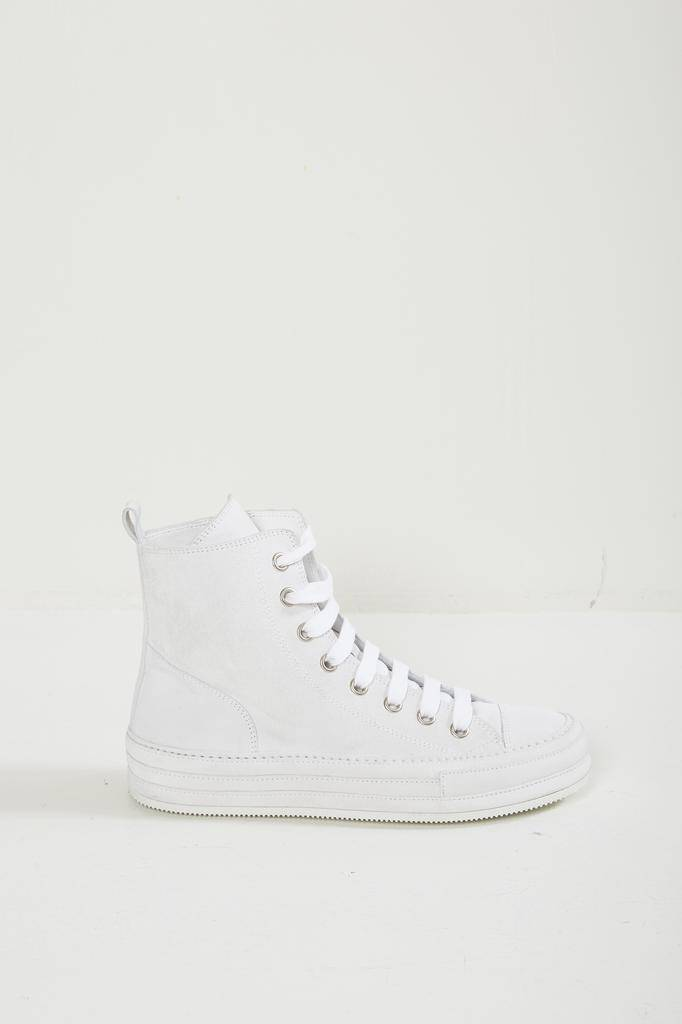 Ann Demeulemeester SCAMOSCIATO BIANCO 100% LEATHER SNEAKER