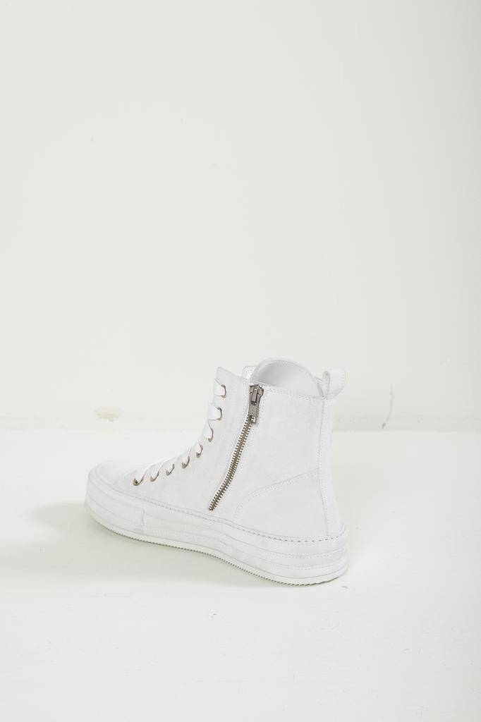 Ann Demeulemeester - SCAMOSCIATO BIANCO 100% LEATHER SNEAKER