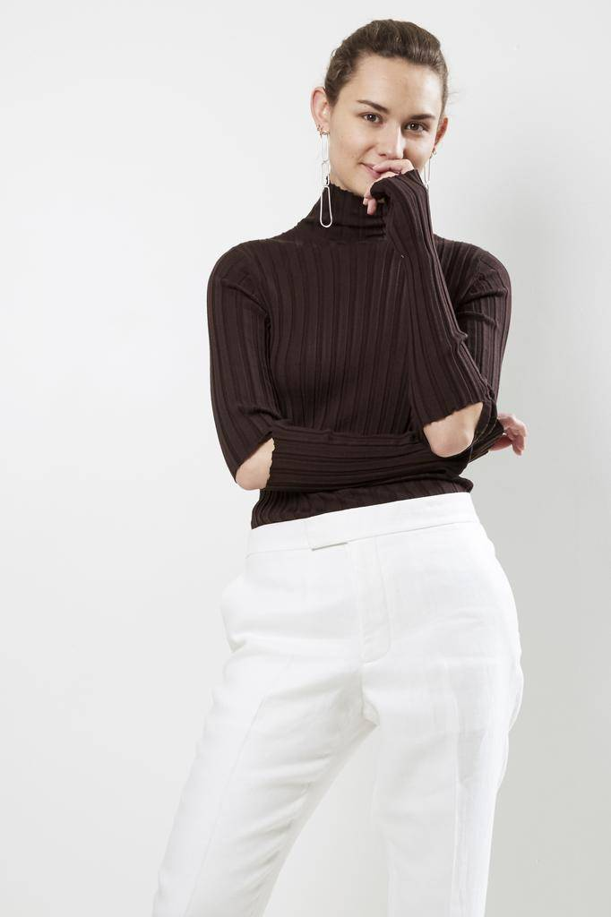 Helmut Lang SLASH RIB TURTLE NECK