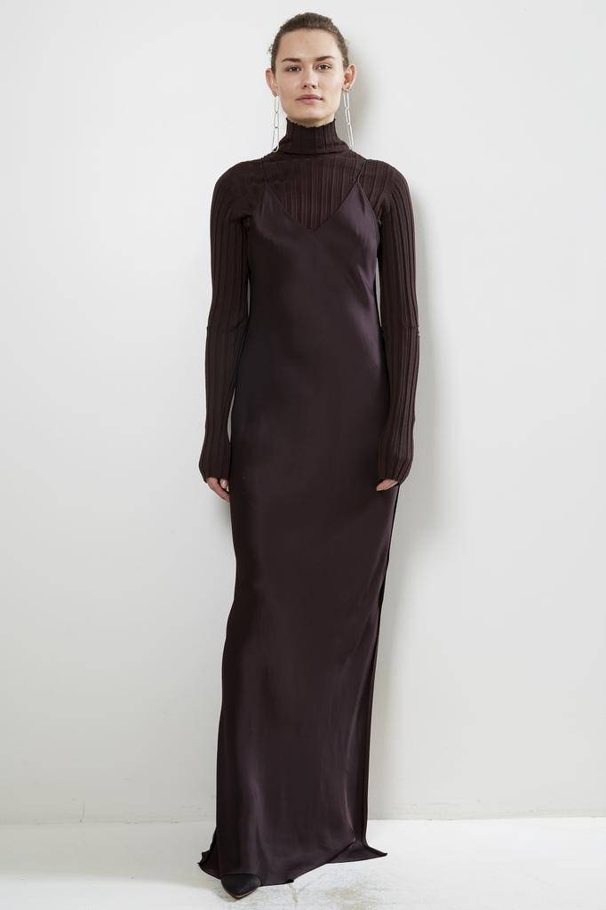Helmut Lang RAW DETAIL FULL LENGTH DRESS