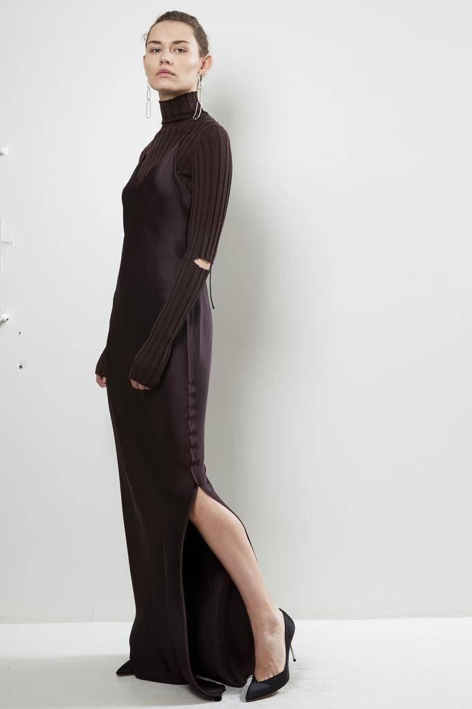 Helmut Lang - RAW DETAIL FULL LENG. DRESS