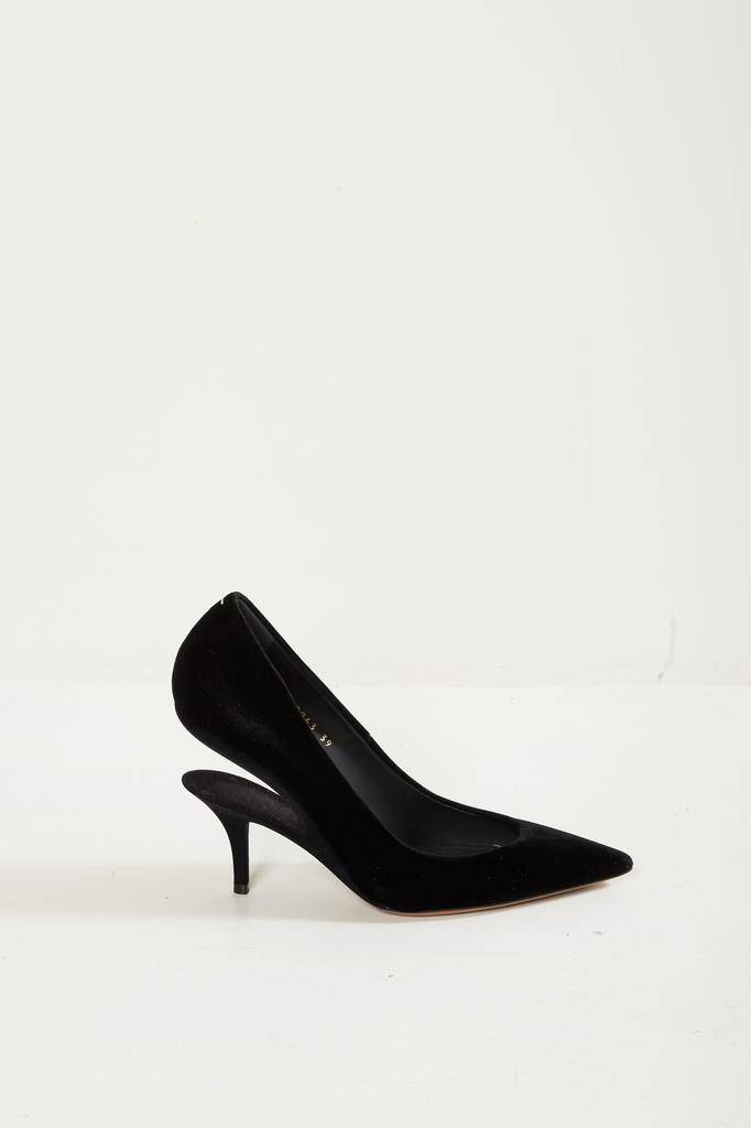Maison Margiela velvet fabric pumps