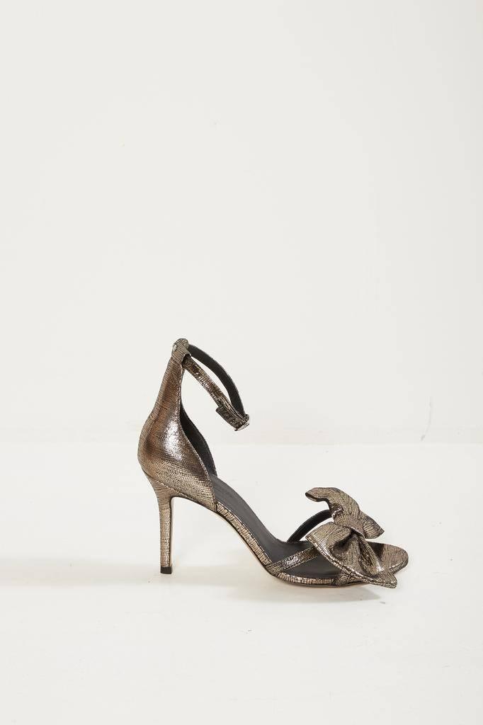 Jerome Dreyfuss isabelle 85 goatskin lamé sandals