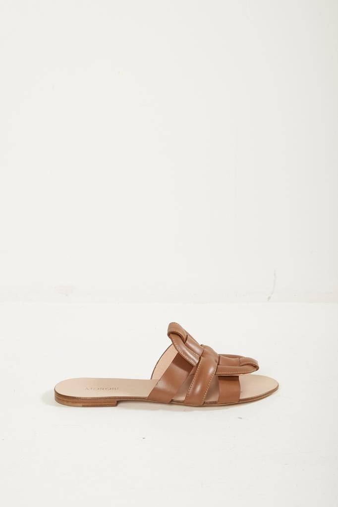 Morobé robien flat leather sandals
