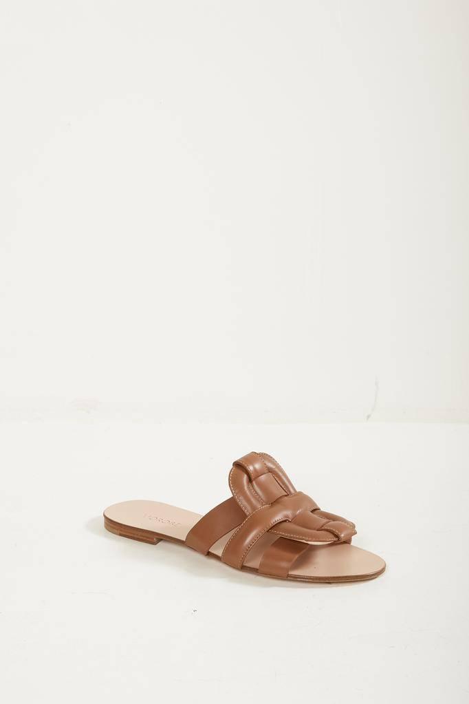 Morobé robien flat leather sandals