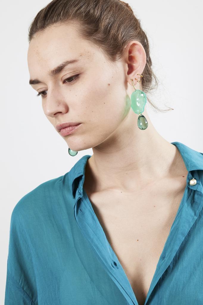 Forte Forte emerald earrings