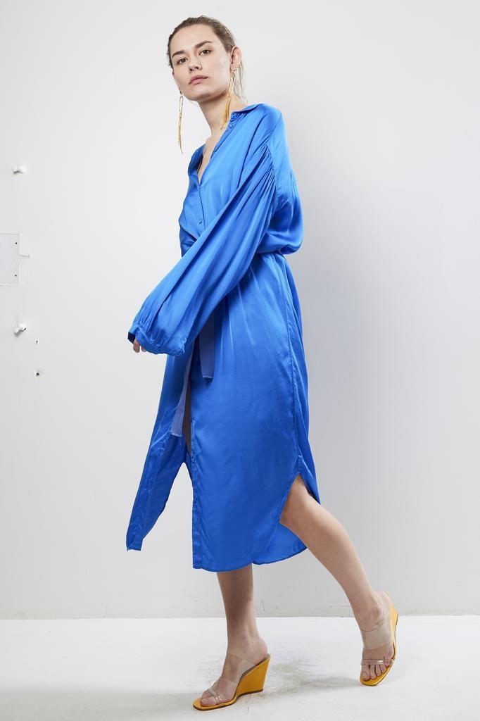Forte Forte viscose satin belted dress