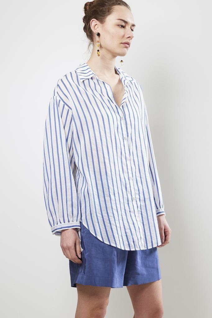 Forte Forte oversized co/se voile stripe shirt