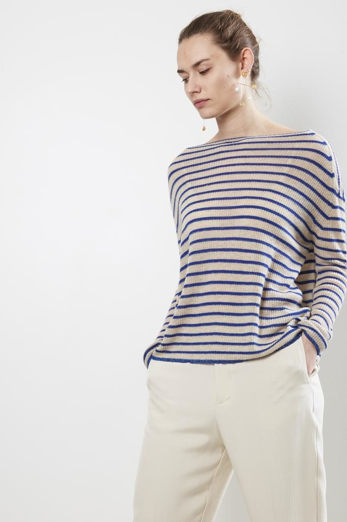Forte Forte ribbed stripe cashmere sweater
