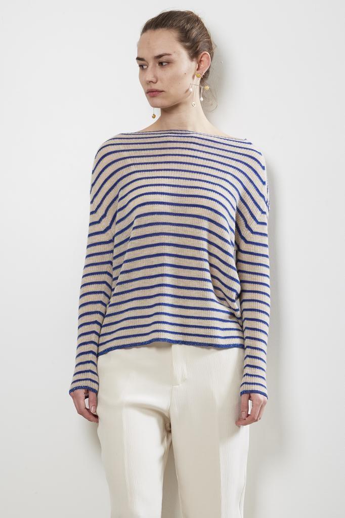 Forte Forte - ribbed stripe cashmere sweater