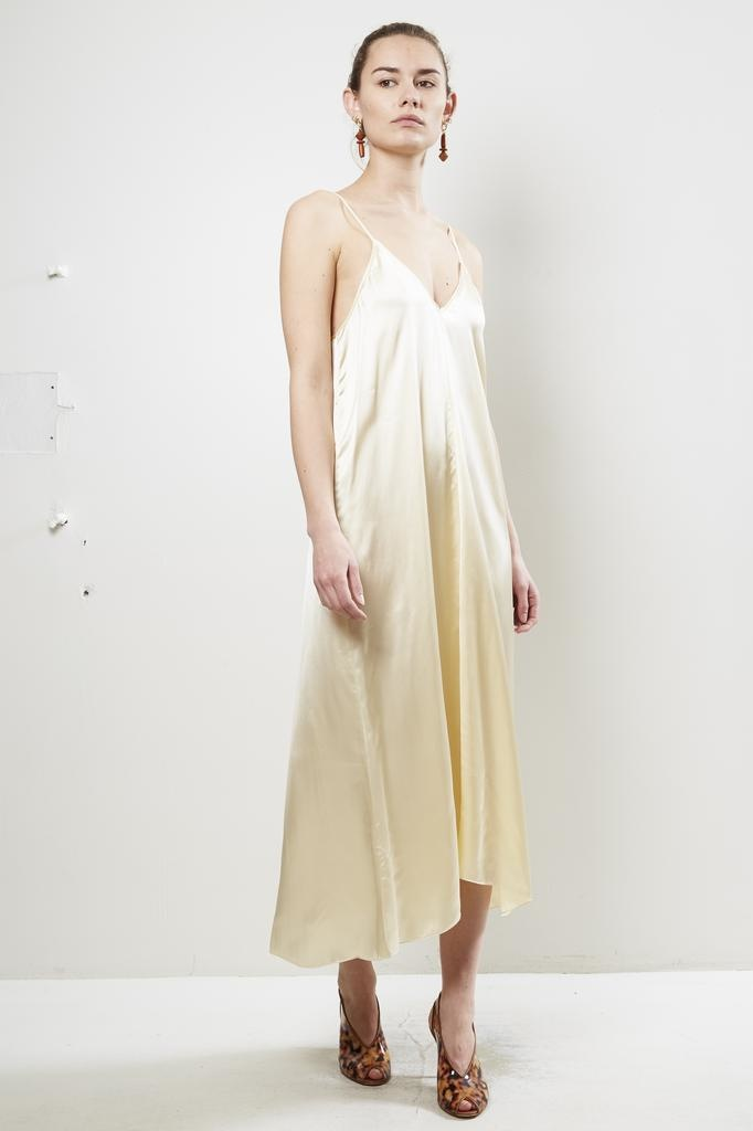 Forte Forte - shaded satin dress with knot