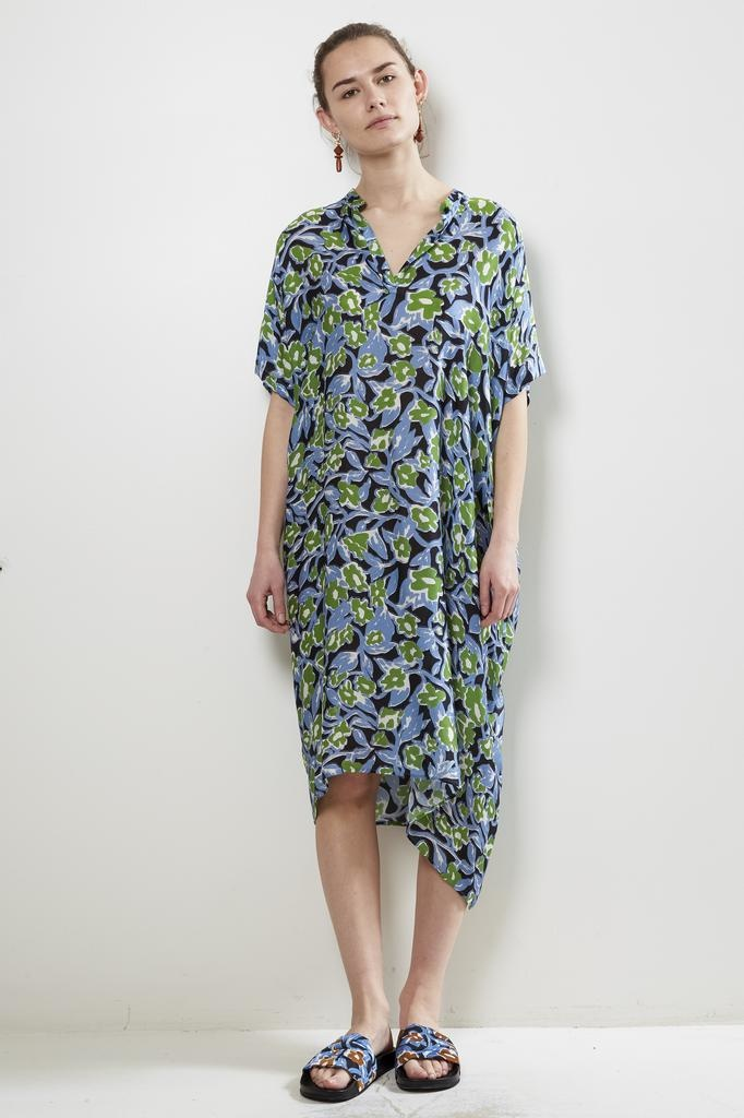 Christian Wijnants DIPHA FLOWERLEAVES SILK CHARMEUSE DRESS