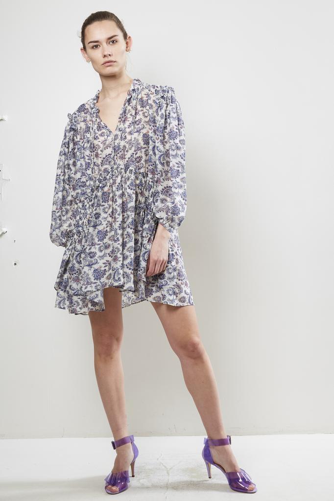 Isabel Marant NYDIA PRINTED GEORGETTE DRESS