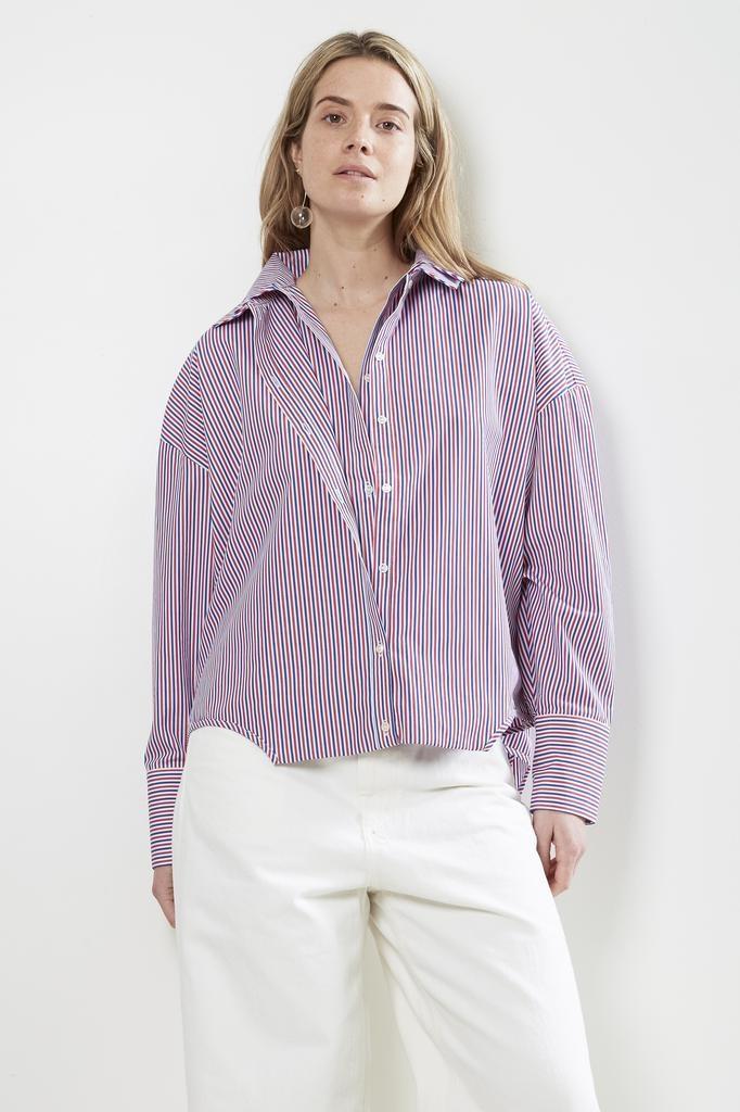 Frenken double trouble striped poplin shirt