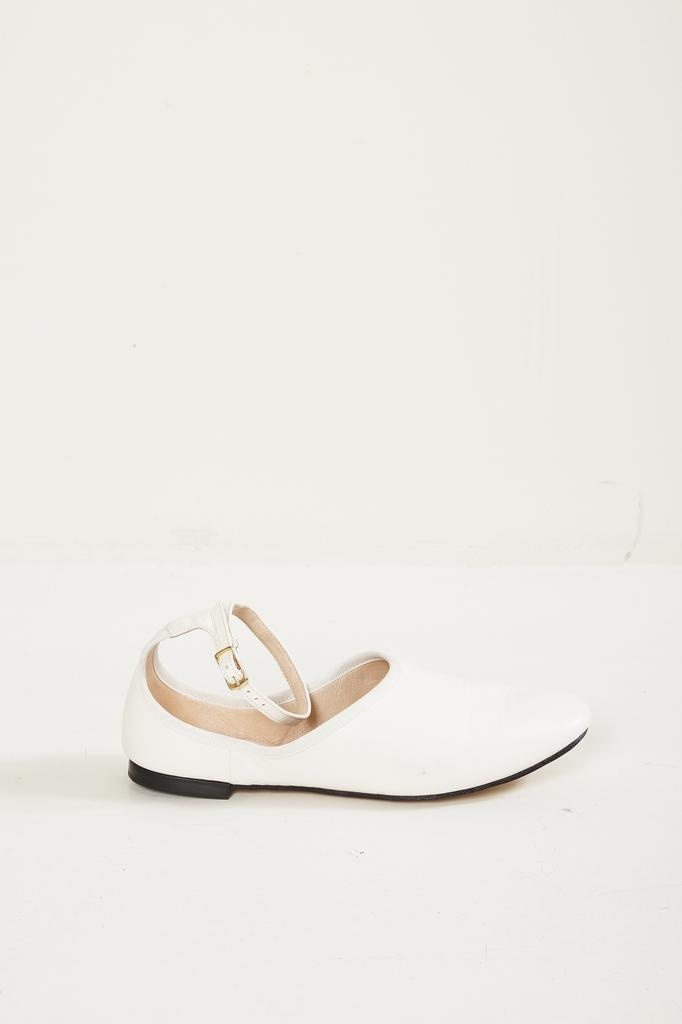 lambsleather ballerinas with rubber sole