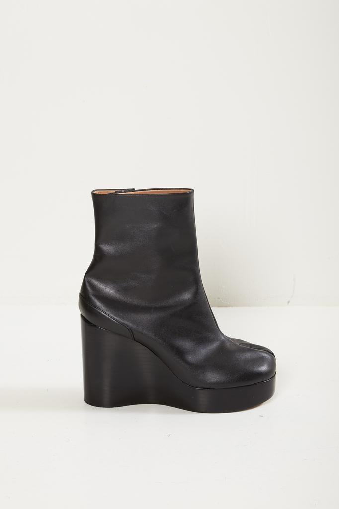 Maison Margiela light brushed effect tabi wedge