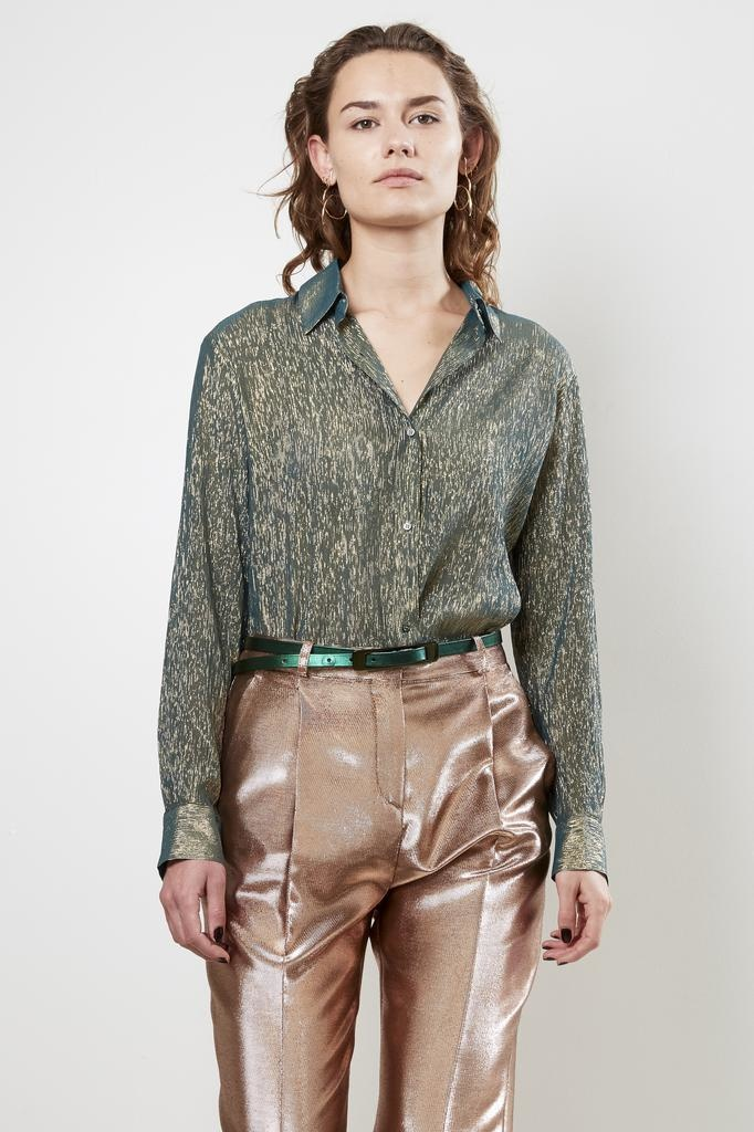 inDRESS sparkling silk shirt