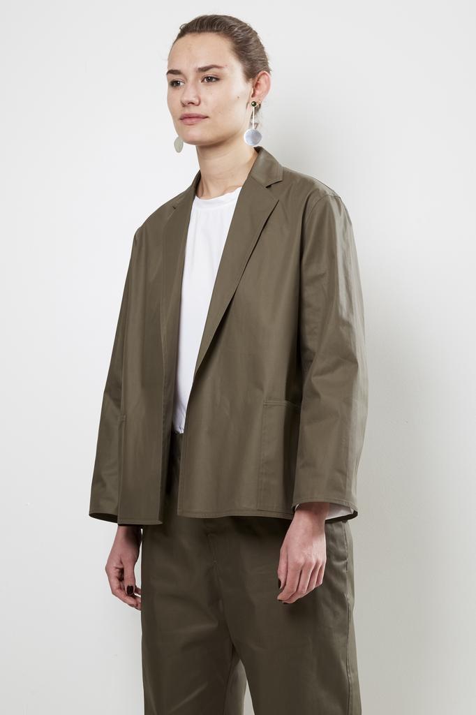 Sofie d'Hoore - crete cotton twill compact paper hand cotton jacket
