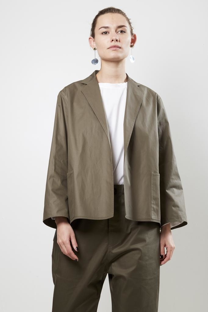 Sofie d'Hoore crete cotton twill compact paper hand cotton jacket