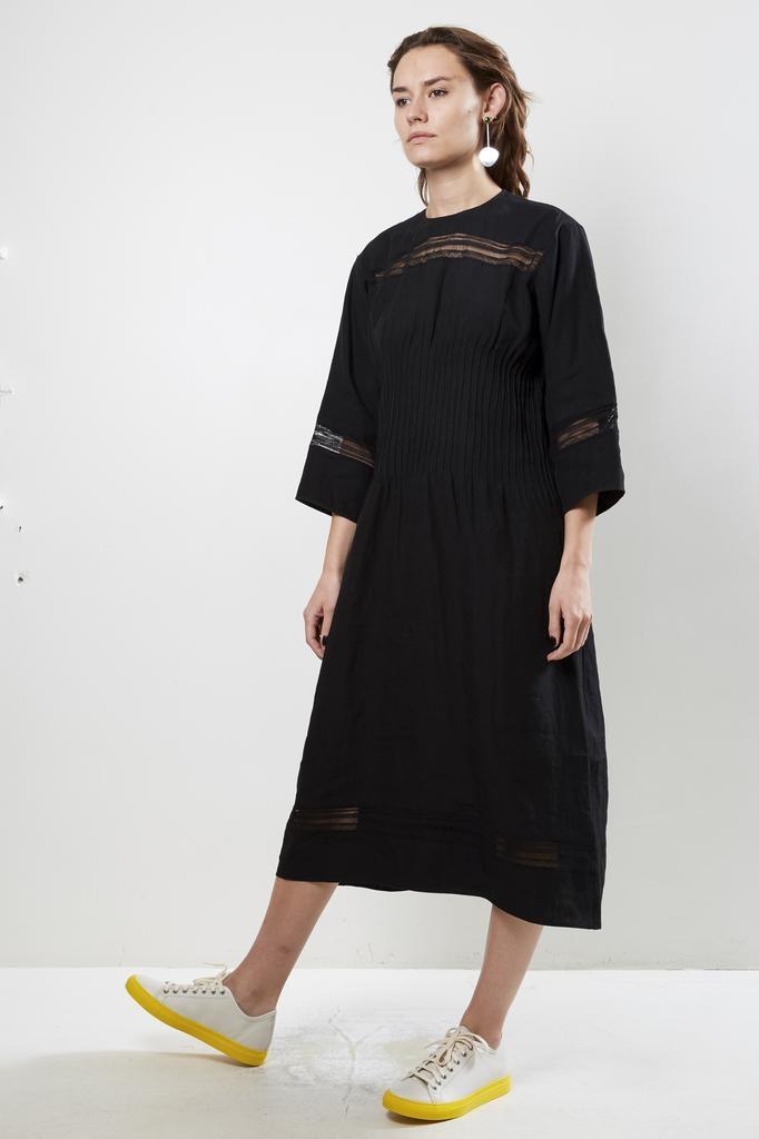 Sofie d'Hoore doral light linen canvas dress