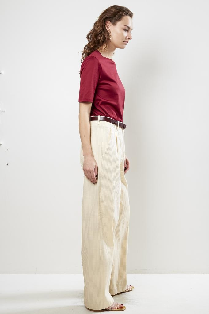 inDRESS pleated cotton pants