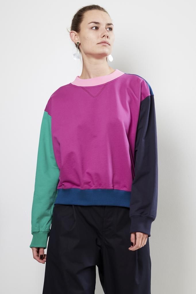 Sofie d'Hoore TONE multicollored fine cotton fleece sweatshirt