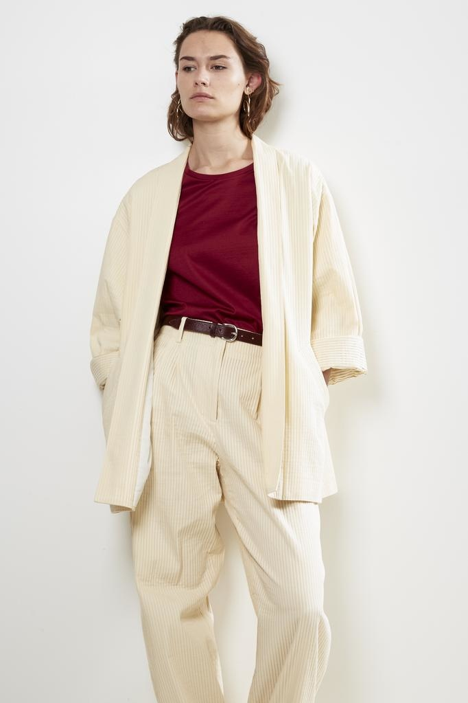 inDRESS pleated cotton jacket
