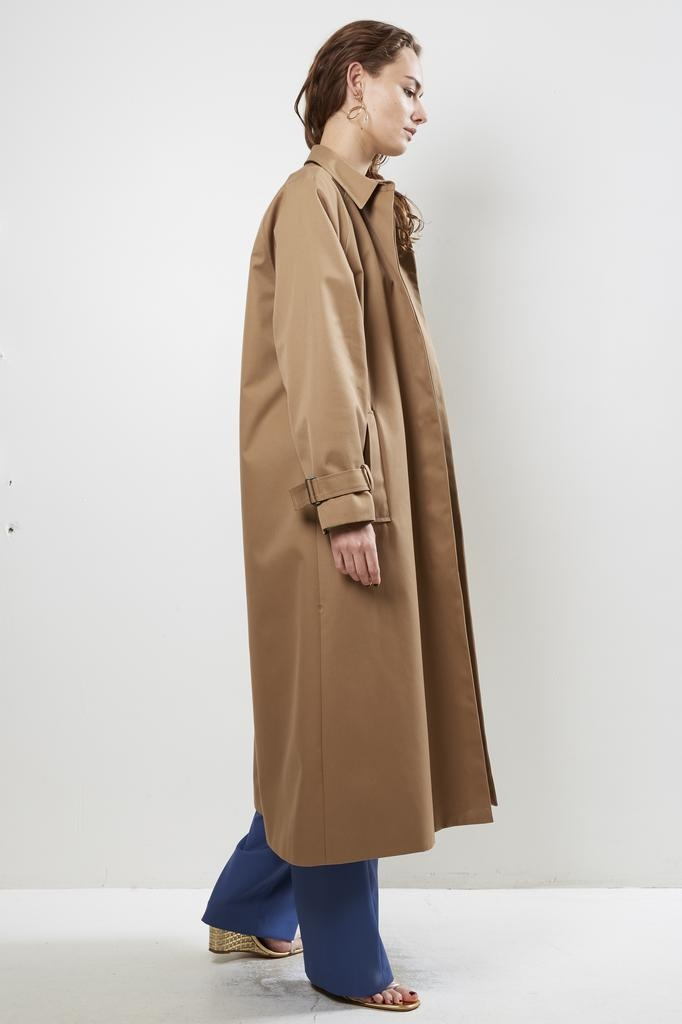 inDRESS LONG TRENCH COAT WITH WOOL