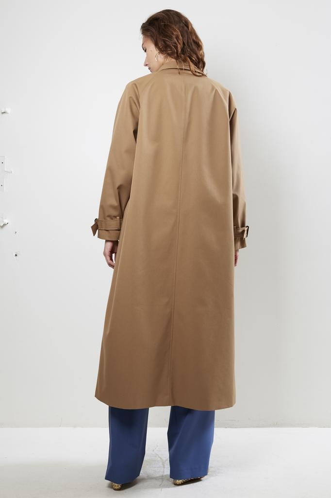 inDRESS - LONG TRENCH COAT WITH WOOL