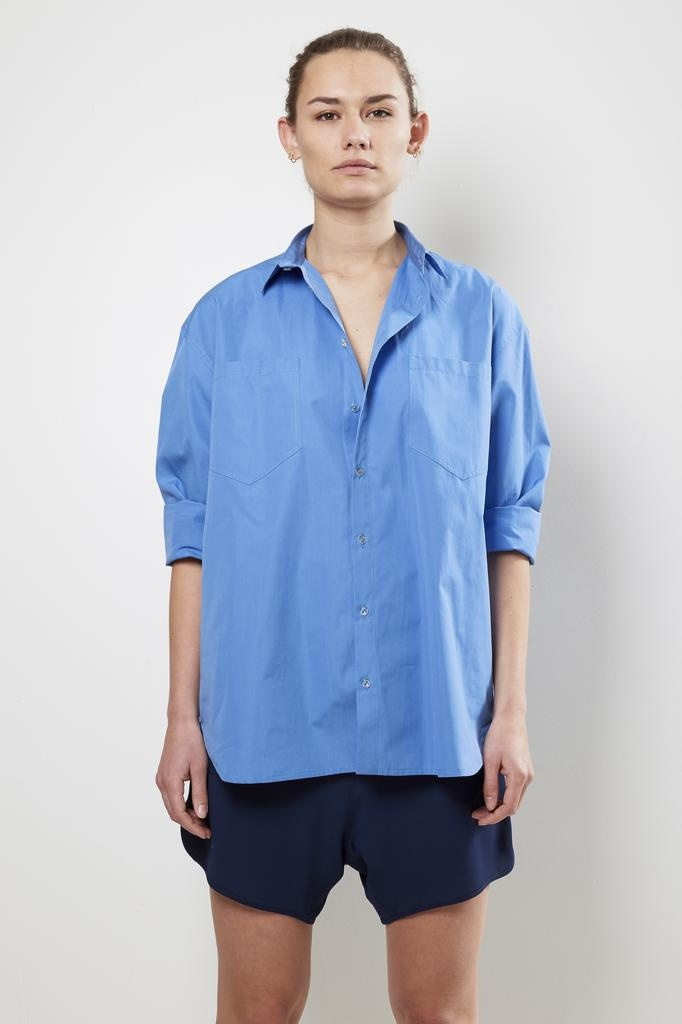 Monique van Heist no5 blue cotton shirt