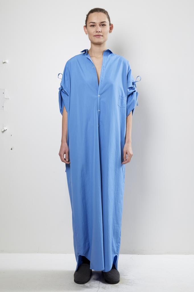 Monique van Heist - no 10 long blue cotton dress