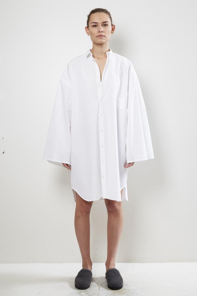 Monique van Heist no 10 white cotton shirt dress