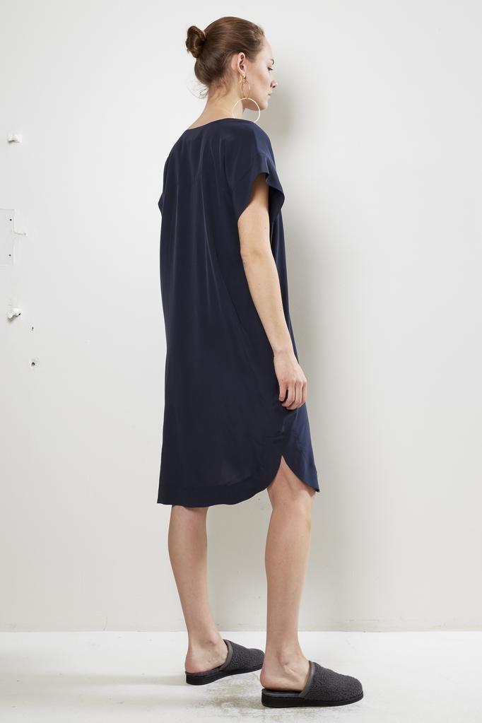 Monique van Heist - navy silk stella dress