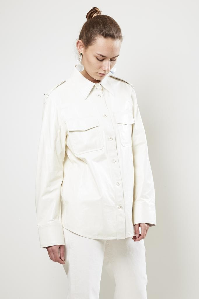 Helmut Lang LEATHER SHIRT.GLAZE1