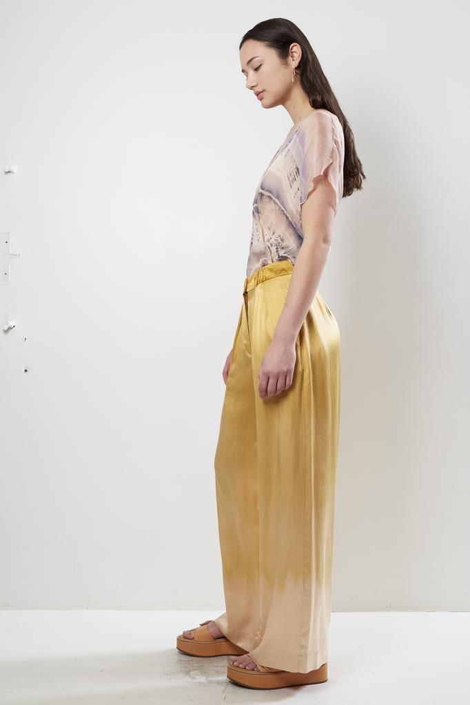 Raquel Allegra Keaton Soft Trouser Silk Tie Dye Charmeuse