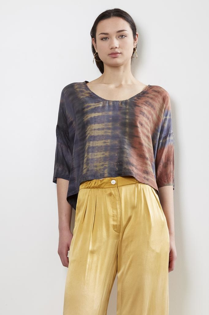 Raquel Allegra Pop Over Silk Tie Dye