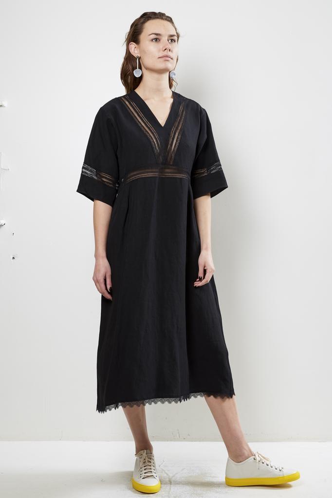 Sofie d'Hoore douala light linen canvas dress