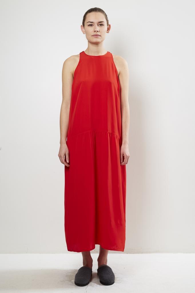 Monique van Heist DAISY RED SILK DRESS